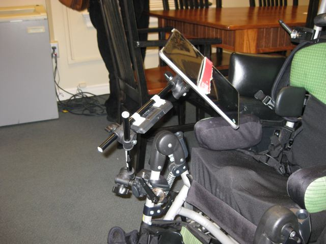 Connecting an iPad to a Wheelchair