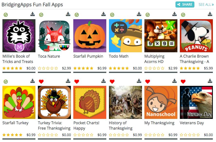 fall app list image
