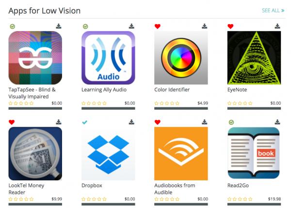 Low Vision App List