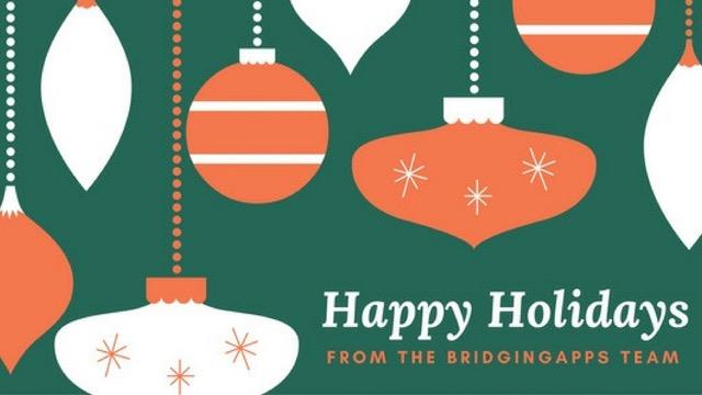 happy holidays from bridgingapps image