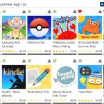 Summer App List