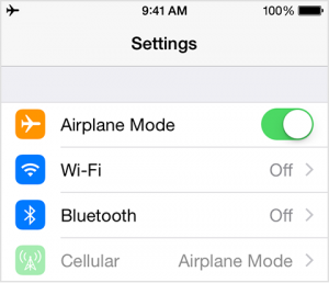 Airplane Mode Image