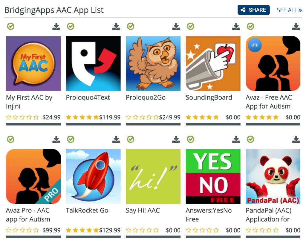 AAC App List