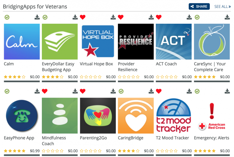 Veterans App List