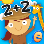 Animal Math Games for Kids in Pre-K, Kindergarten and 1st Grade Learning Numbers, Counting, Addition and Subtraction Free App
