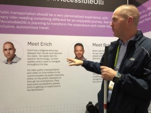 Man with visual impairment shares input to accessible olli