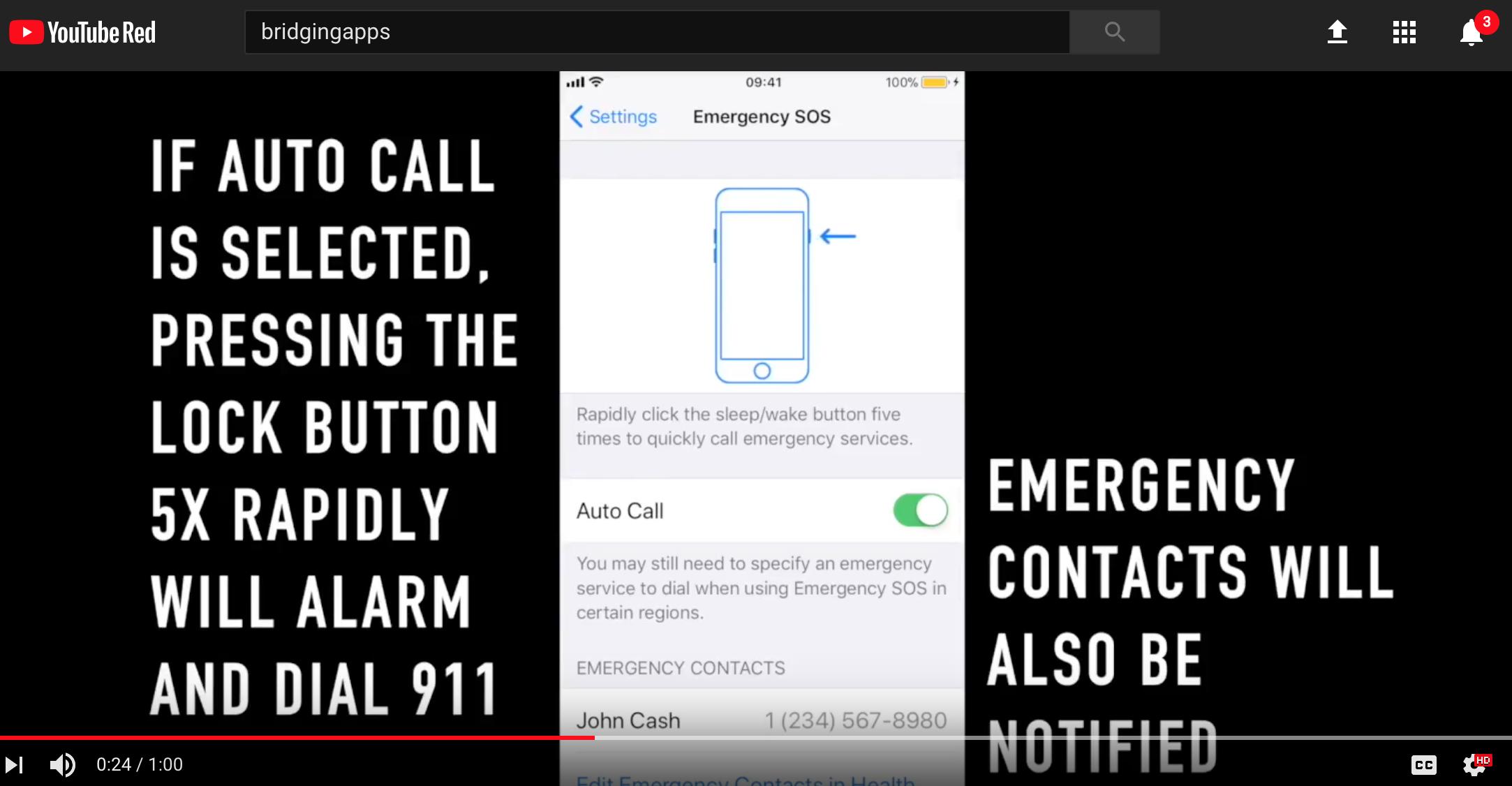 SOS Emergency Features iOS 11