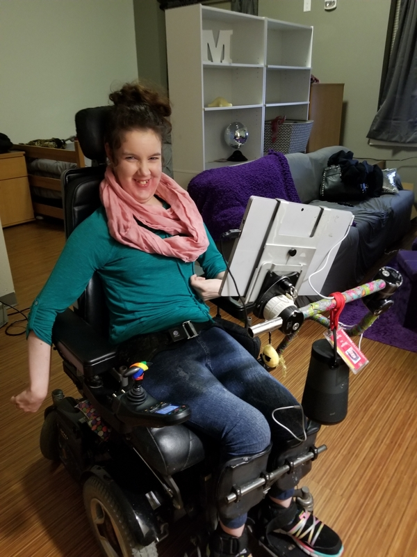 Megan Using Bose Speaker