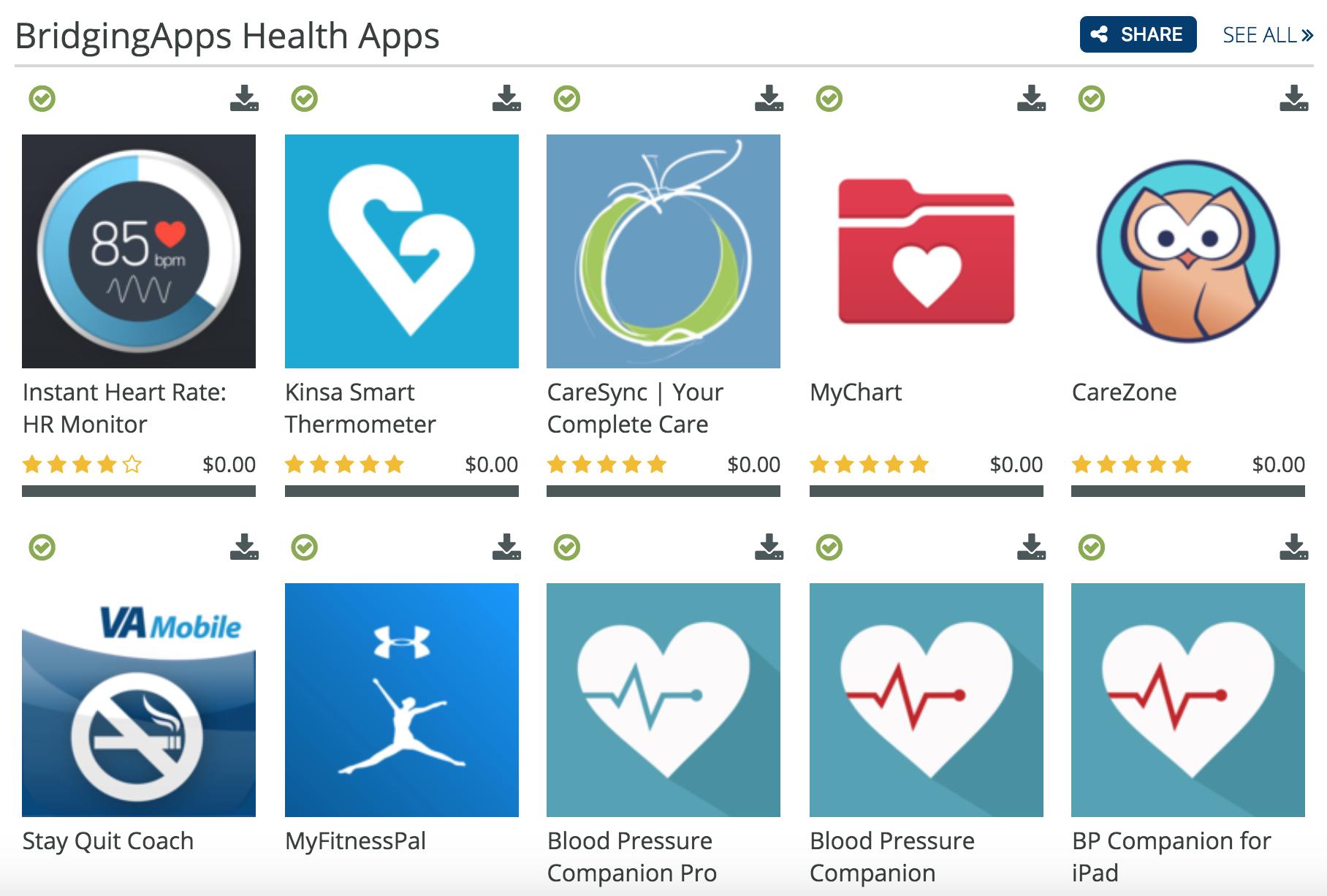 Health App List 2018