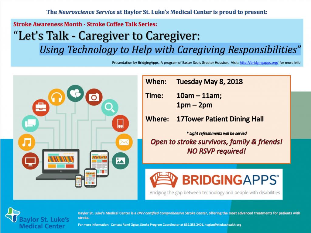 """""""Let's Talk - Caregiver to Caregiver Flyer"""