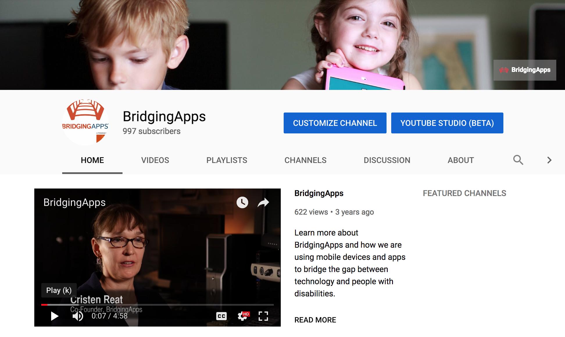 BridgingApps YouTube