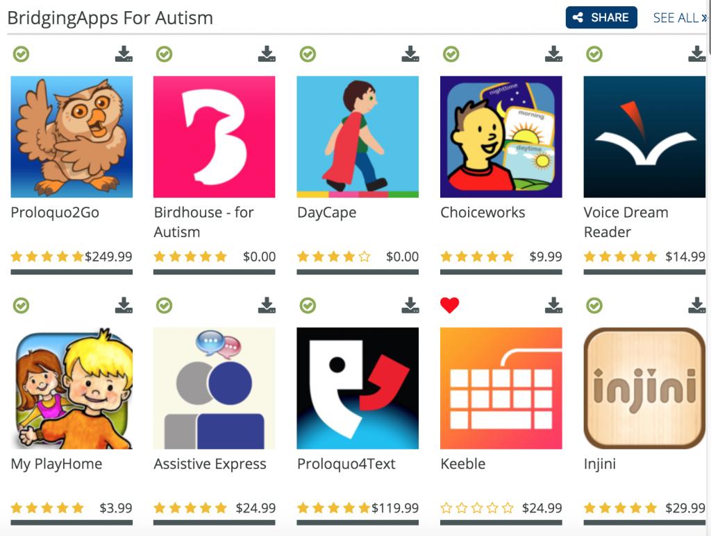 Autism App List