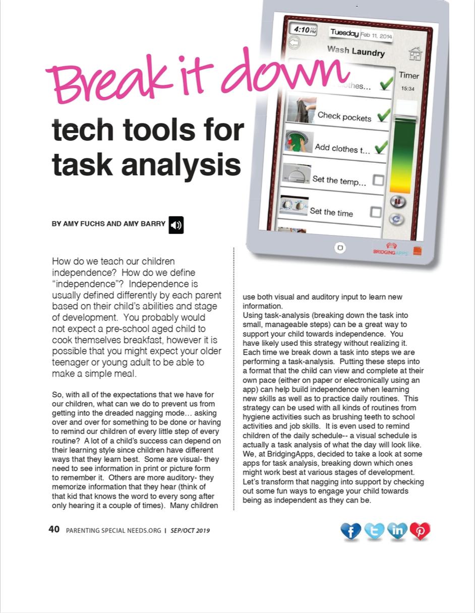 PSN Article Task Analysis