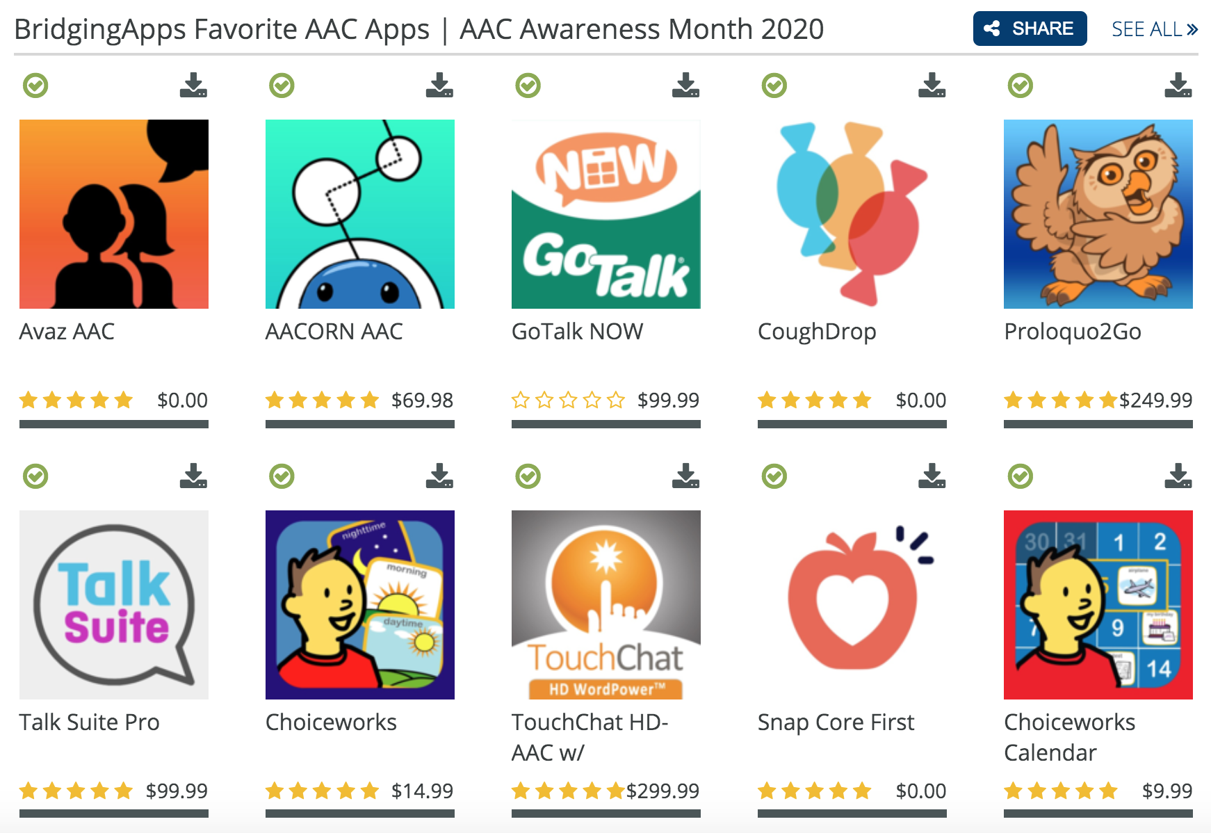 Favorite AAC App