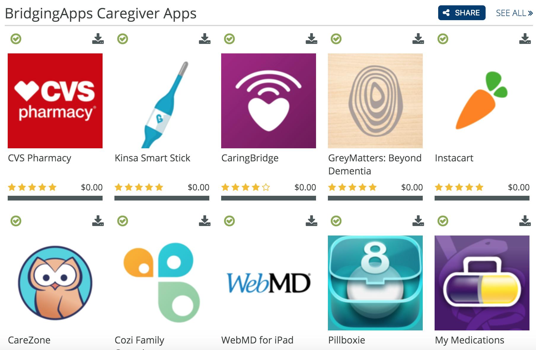 caregiver apps