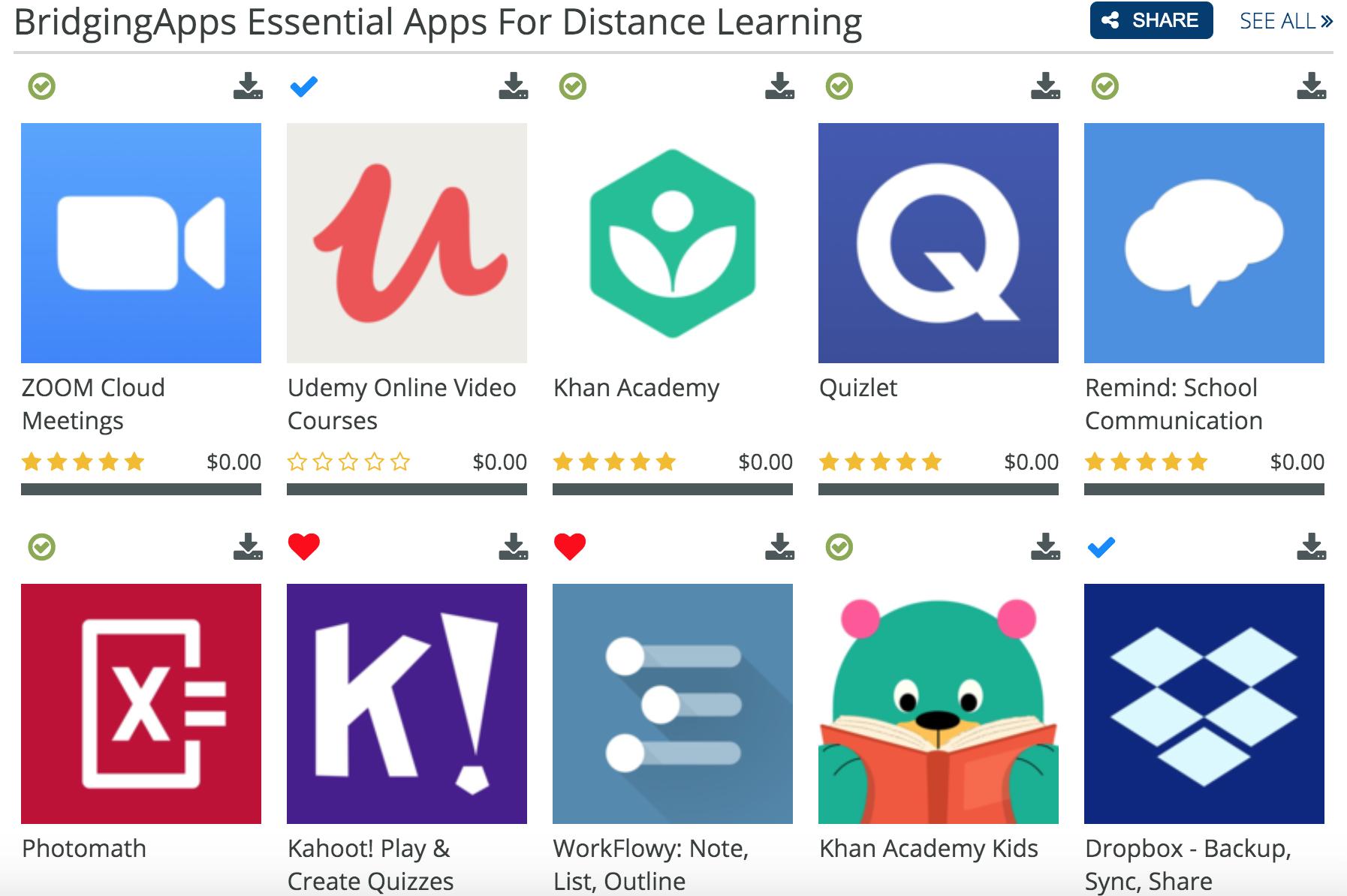 distance learning app list
