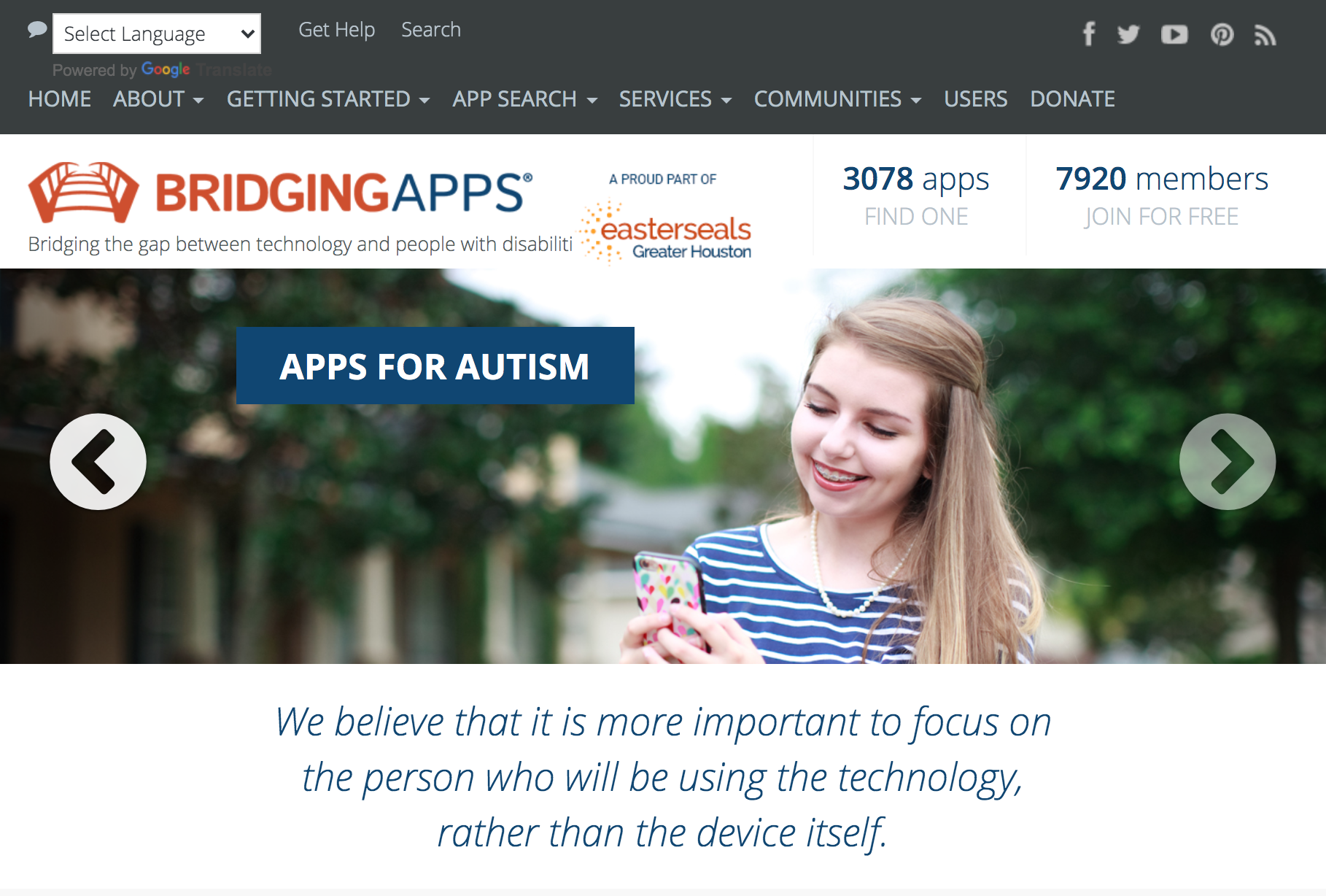 BridgingApps Website