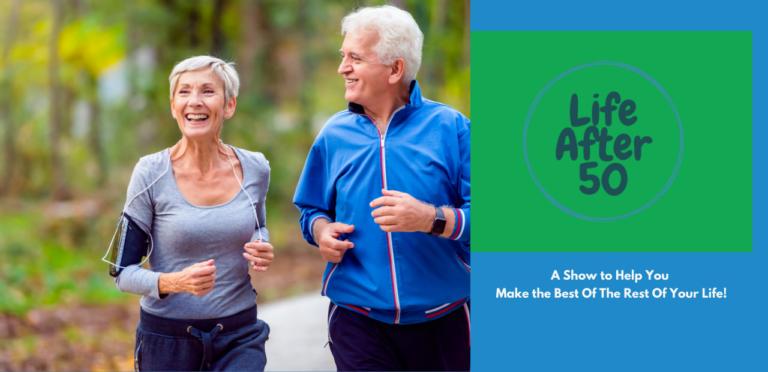 Older Adult Couple Jogging